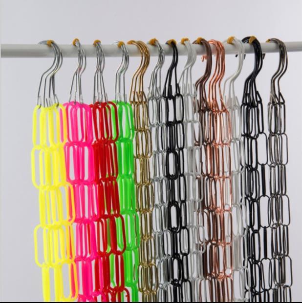 سلسلة ملابس معدنية معلقة ، عالية الجودة ، متعددة الوظائف ، مع خطاف ، حلقة عرض ، لمتجر الملابس ، روبا كولجادا