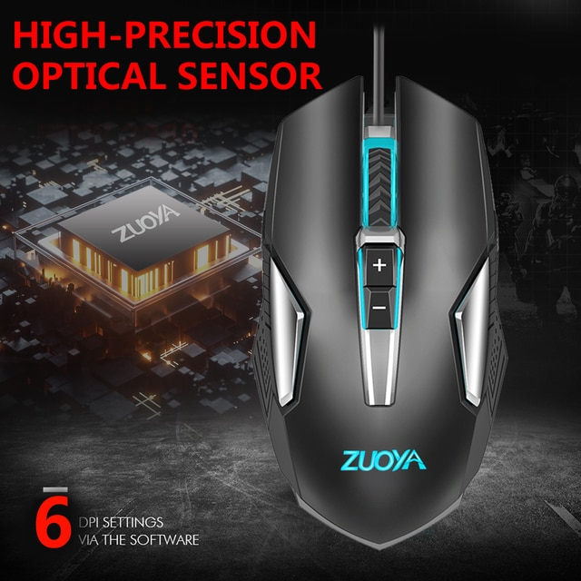 Original Wired RGB Gaming Mouse Optical Gamer Mice Adjustable DPI With Backlight For Laptop Computer PC Professional Game 10