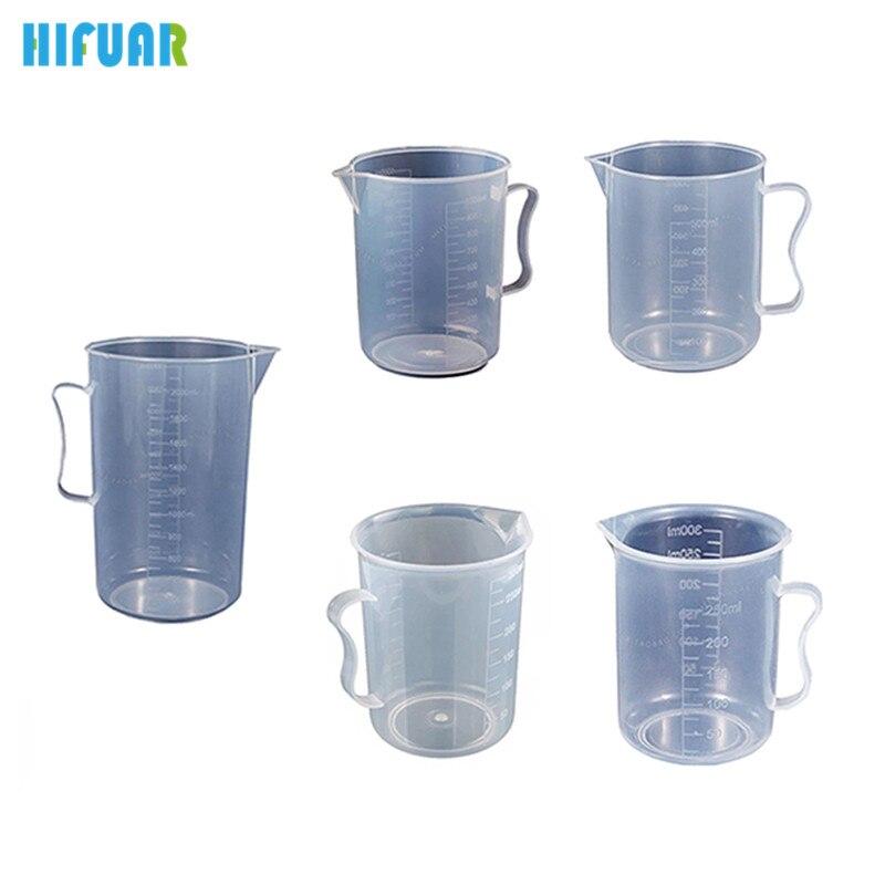 HIFUAR Plastic Measuring Cup 250/300/500/1000/2000ML Jug Pour Spout Surface Kitchen Transparent cup scale baking kitchen tool