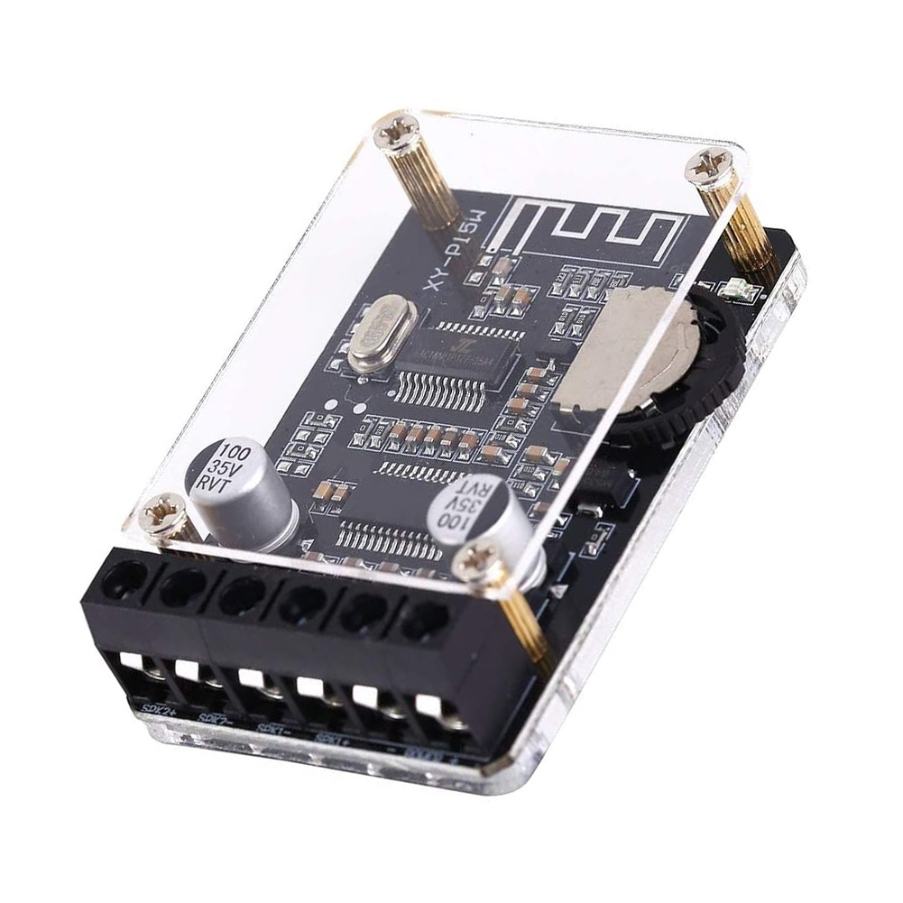 New Bluetooth Receiver Board Audio Stereo High Power Digital Amplifier Module XY-P15W 12V 24V for Wireless Speaker DIY