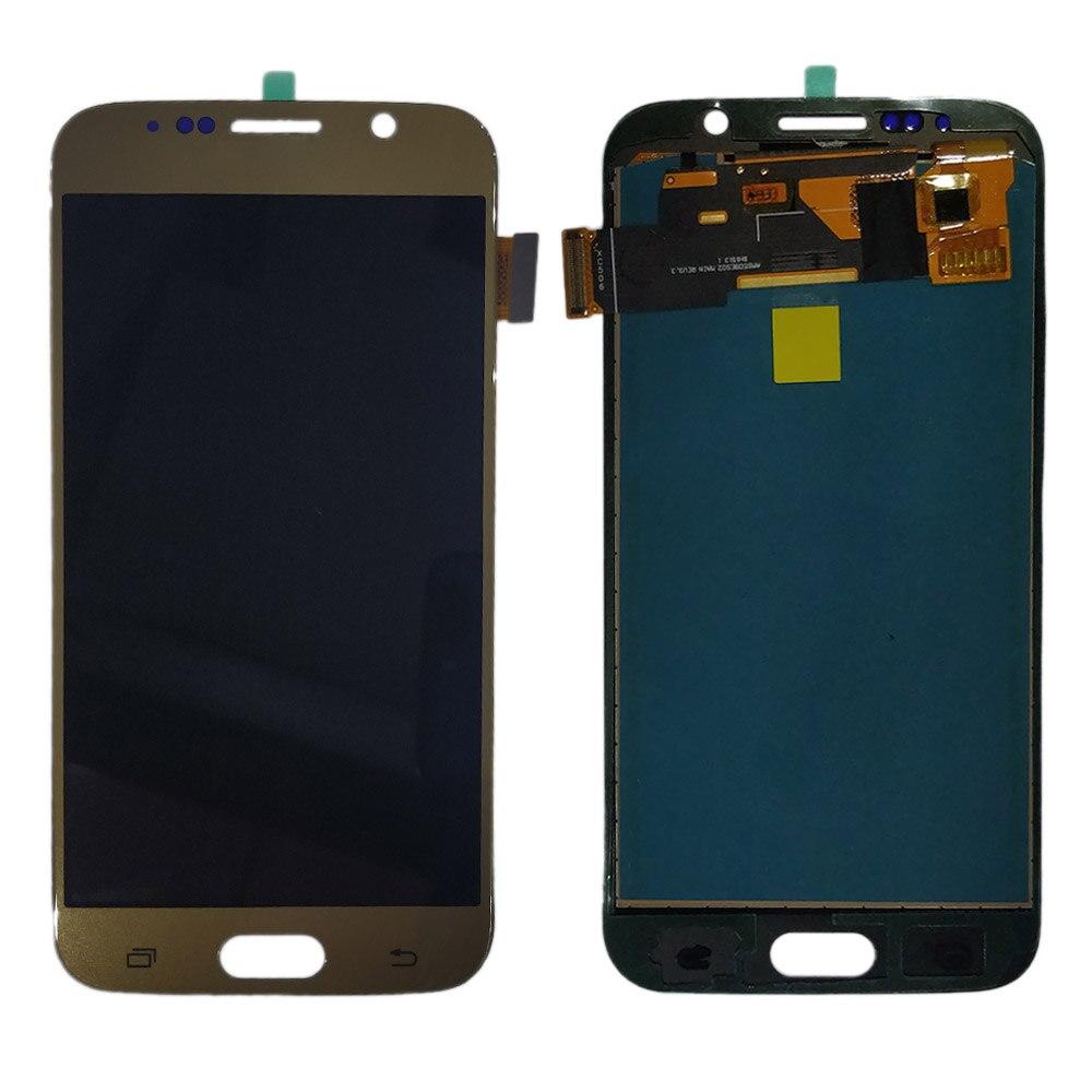 G920f lcd لسامسونج غالاكسي S6 G920 G920F LCD عرض تعمل باللمس محول الأرقام التجمع لا الإطار لسامسونج S6 TFT LCD عرض