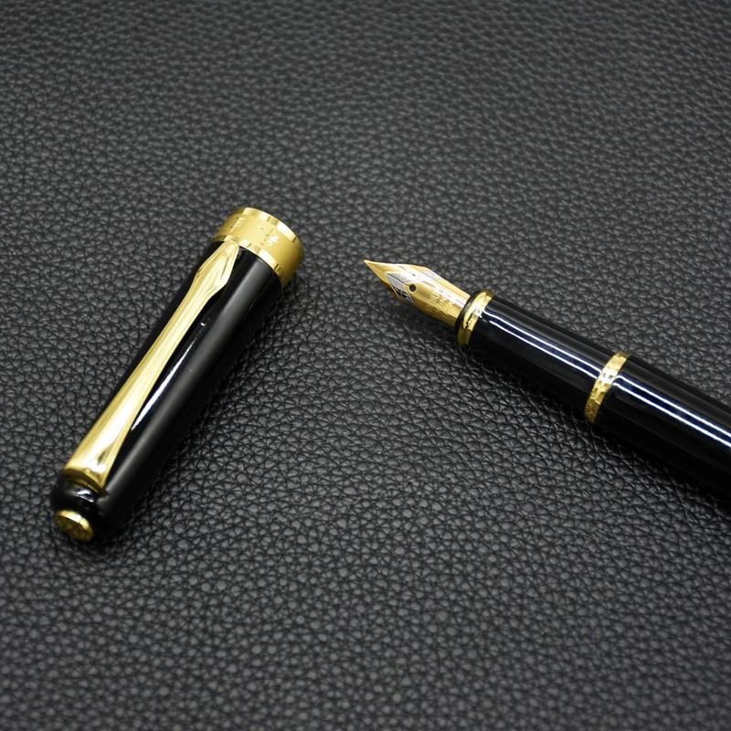 1Pc Full Metal negro brillante fuente de Pluma 0,5mm Iraurita Pluma de...