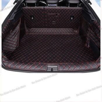 Lsrtw2017 Fiber Leather Car Trunk Mat Cargo Liner for Volkswagen Arteon 2017 2018 2019 Rug Carpet Interior Accessories