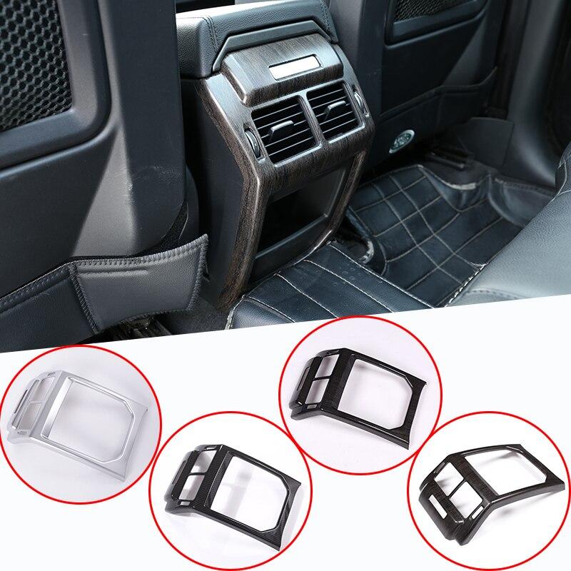 Oak Wood Grain Car Interior Rear Row Air Conditioning Vent Frame Trim For Land rover Range Rover Evoque 2014-2019 Accessory