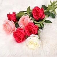 Rose artificielle faite a la main  decoration de maison  hotel  salon  bureau  mariage  fausse fleur  fete de vacances