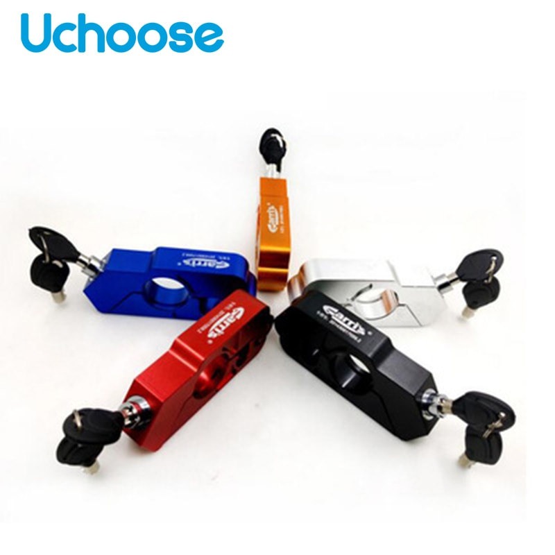 universal motorcycle lock scooter handlebar safety lock brake throttle grip anti theft protection security locks high quality Motorcycle Handlebar Throttle Lock Security Safety Grip Locks Brake Lever Disc Locking Fit Scooter ATV Anti-theftExplosion-proof