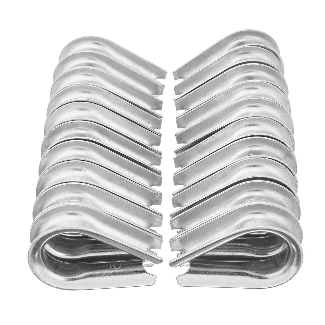 Нержавеющая сталь uxcell наперсток для 0,39 дюйма (10 мм) Диаметр троса 20 шт