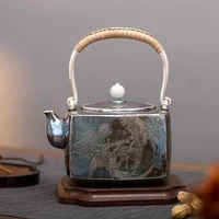 silver pot 999 sterling silver teapot to give gifts to the elders handmade household kung fu tea set teapot kettle 716g1 2l