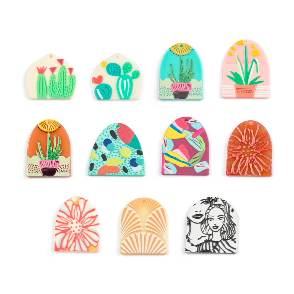11 Styles 50Pcs Jewelry Accessories Hand Made Earrings Making Connectors DIY Pendant Jewelry Findings & Components Charms