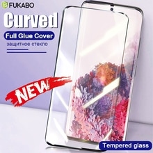 Curved Tempered Glass For Samsung Galaxy S20 Ultra S20 Fe S10 S9 Plus A51 A71 A31 A21S Note 20 10 9