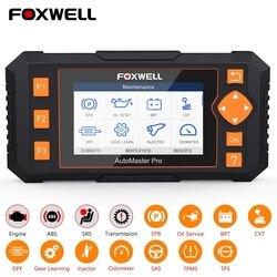 Foxwell nt644 elite obd2 ferramenta de diagnóstico do carro sistema completo dpf tpms epb óleo 19 redefinir profissional obd 2 scanner automotivo
