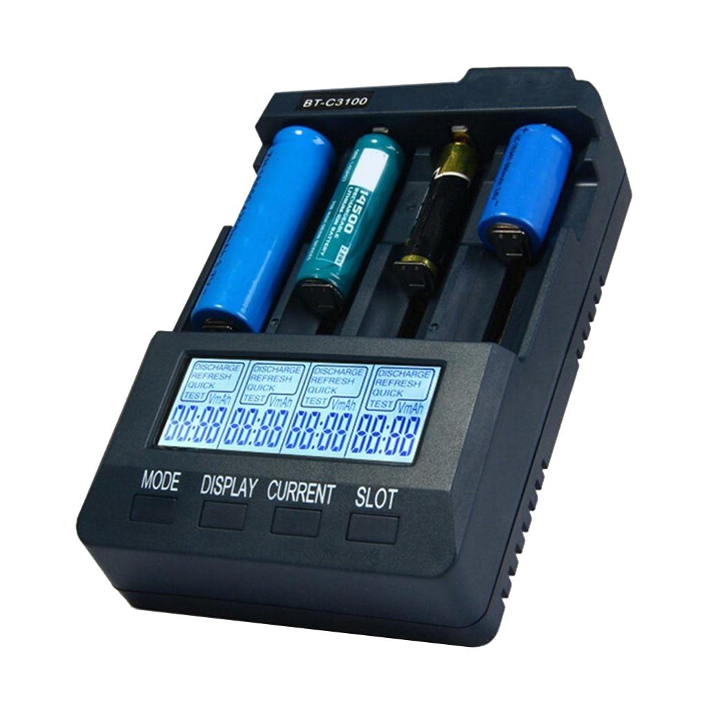 Adaptador de energía de las baterías V2.2 inteligente, recargable, con 4 ranuras para LCD, cargador de batería Universal, enchufe para EE. UU./UE/Reino Unido