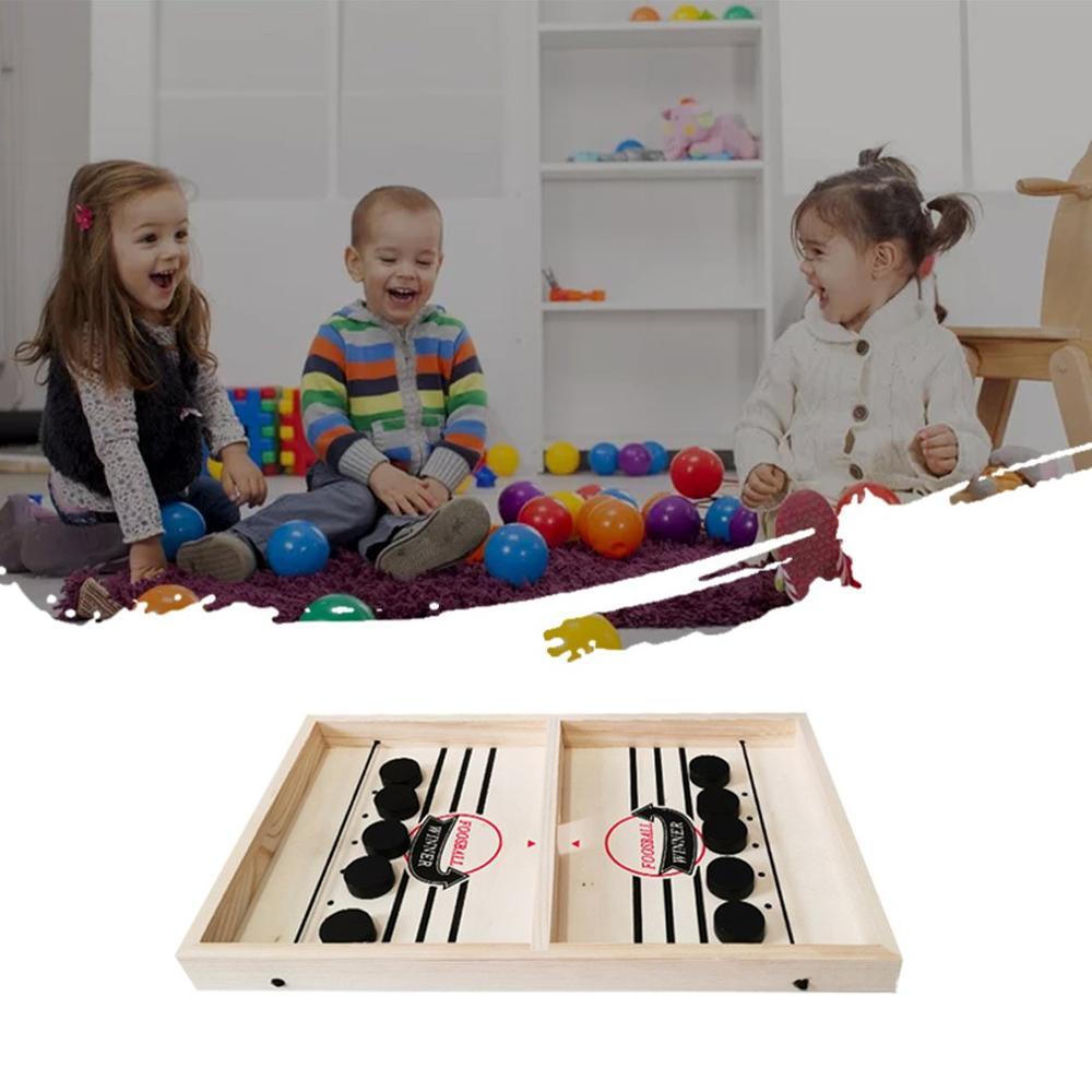 ¡Nuevo! 1 Juego de juego de disco de eslinga rápido, juego de mesa de Winner, juegos familiares para niños, Batalla de Hockey sobre hielo