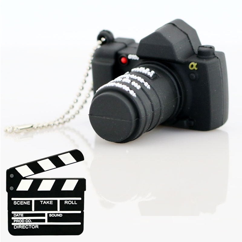 Флеш-накопитель u-диск фильм нумератор для милые Камера флеш-накопитель 32 Гб 128 Гб 64 Гб 256 ГБ USB флэш-накопитель ручка привода карта фильм шахм...