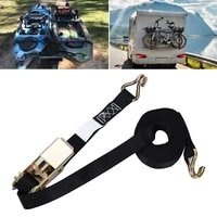 cargo ratchets strap heavy duty tie down with buckle portable belt adjustable re tractable kayak canoe safety watering elements