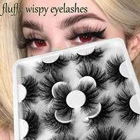 reusable cruelty free thick long soft band false eyelashes extension 3d faux mink eyelashes wispy fluffy eye lashes