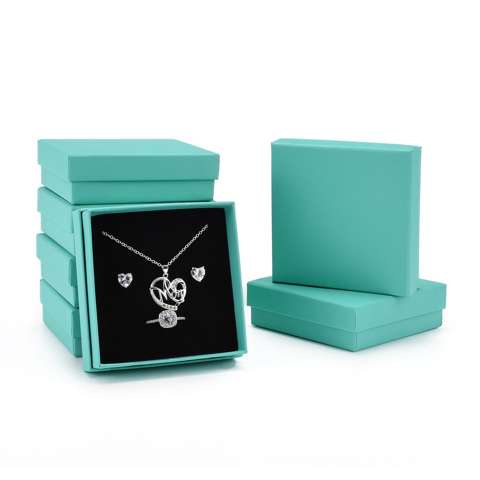 18 шт., картонные подарочные коробки для украшений, 9,1x9,2x2,9 см