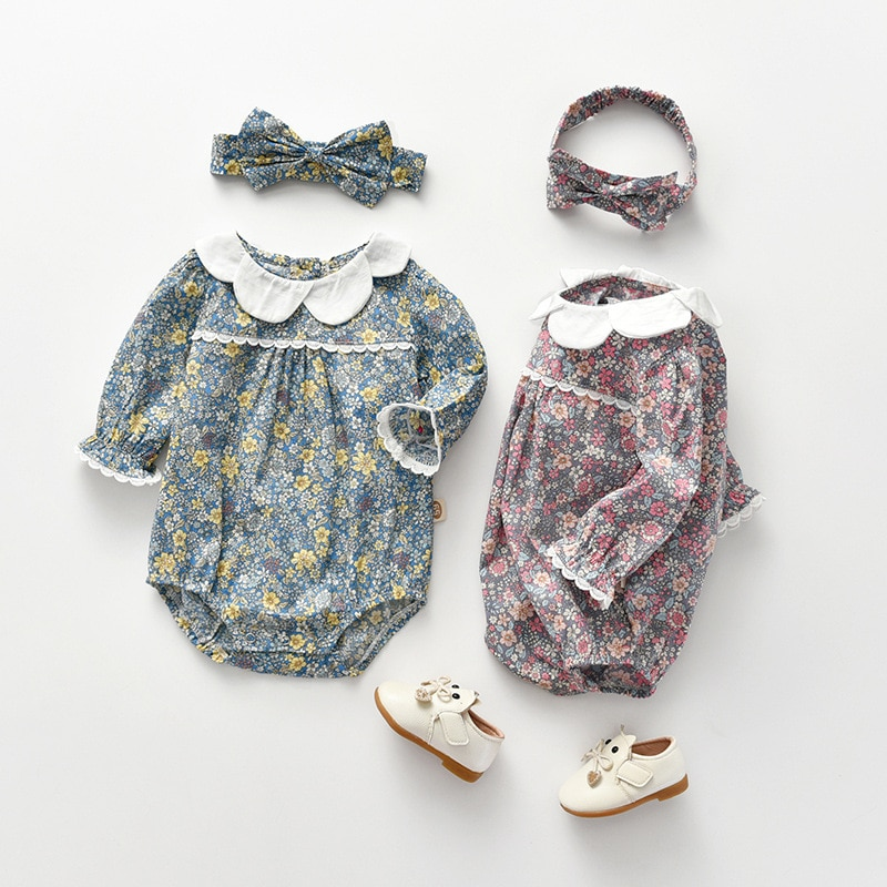 Yg Brand Children's Wear, Breathable Floral Casual One-piece Baby Suit, Spring And Autumn New Cotton
