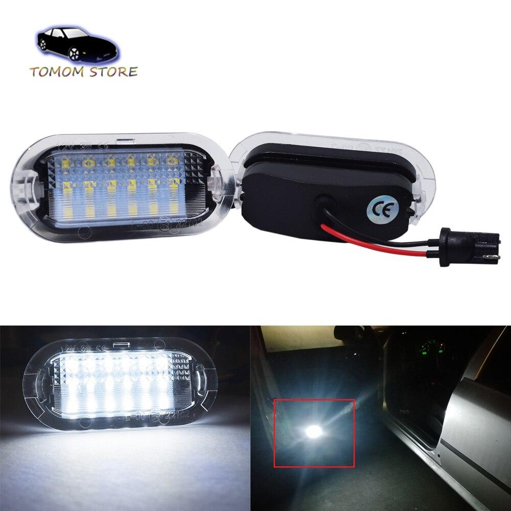 2 uds 6000K LED blanco luces de puerta de coches para asiento...