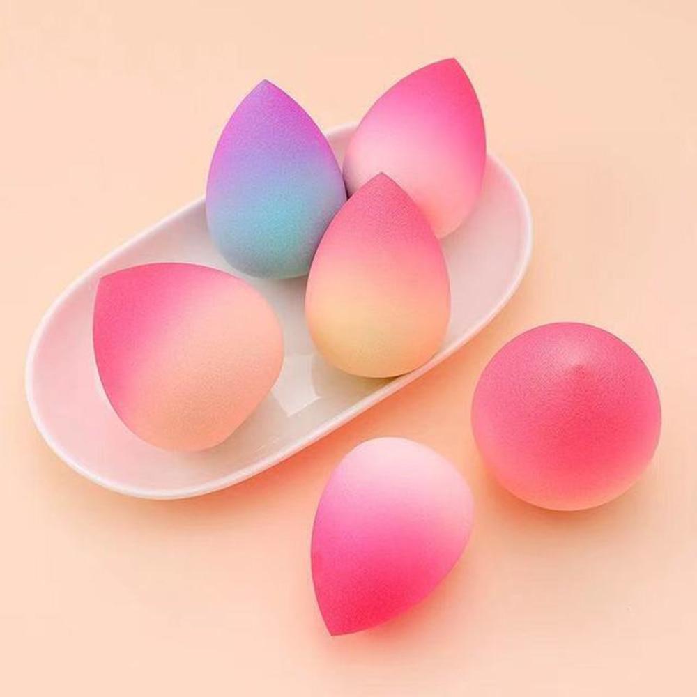 Fashion Soft Gradient Cosmetic Puff Makeup Egg Blender Makeup Sponge Foundation Powder Sponge Beauty