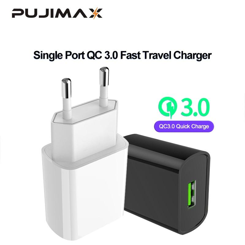PUJIMAX USB Ladegerät 3,0 18 W Schnelle handy-ladegerät für iPhone X xs 8 7 iPad Samsung Galaxy s8 s9 s10 Galaxy HTC Xiaomi Huawei Nexus
