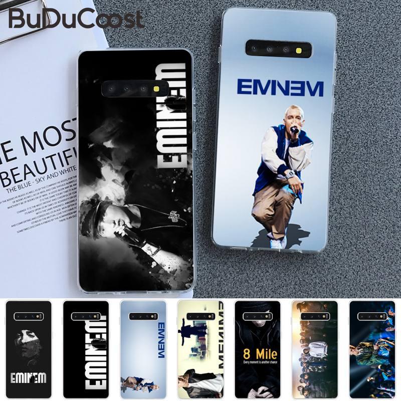 Riccu American rapper Eminem Phone Case For Samsung S5 6 7 8 9 10 S8 S9 S10 plus S10E lite S10-5G S2