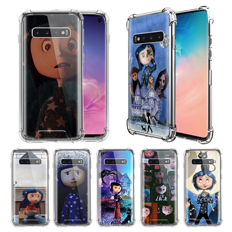 Cartoon Coraline Case For Samsung Galaxy S10e S20 S10 5G S9 S8 Plus Note 10 Lite 9 8 Airbag Anti-Fall TPU Phone Coque