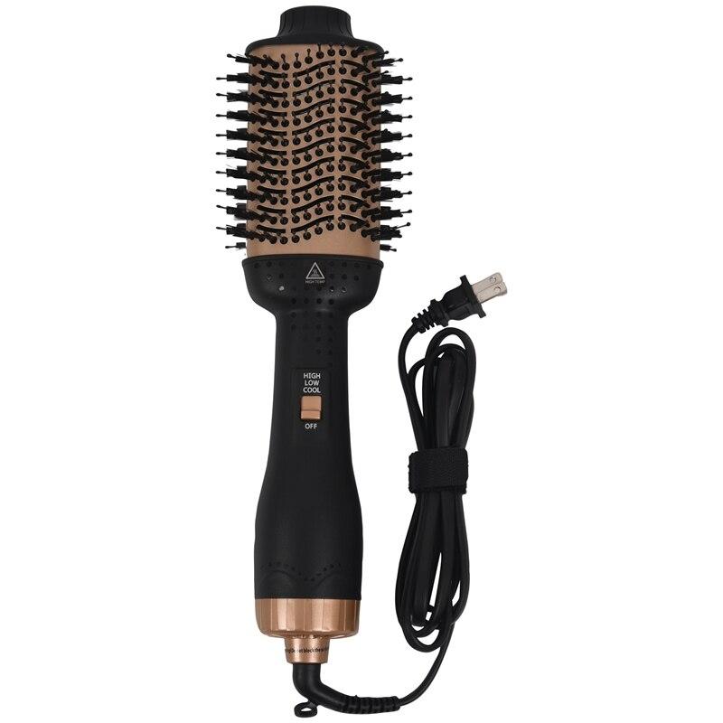Hair Dryer Brush One Step Hair Dryer & Volumizer 3-In-1 Dryer Straightener Curler Hot Air Comb With Ceramic Anti-Scald Negative enlarge