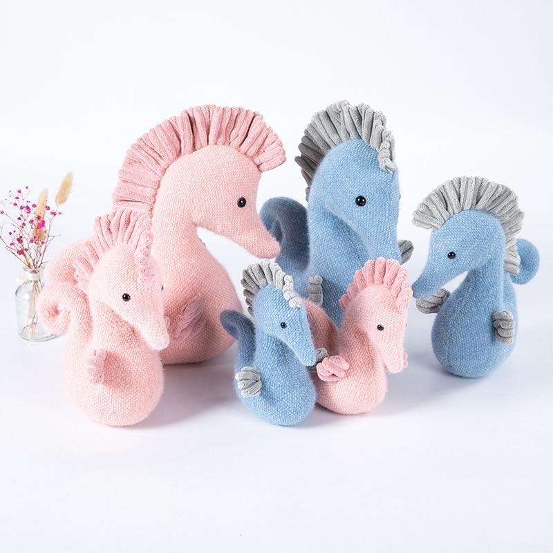 Фото - Hippocampus Plush Toy Stuffed Angel Seahorse Doll Soft Marine Animal Plush Doll Child Pillow Birthday Gift pokémon plush doll toy ibrahimovic charizard pikachu pokémon doll kawaii cartoon plush doll pillow child birthday gift