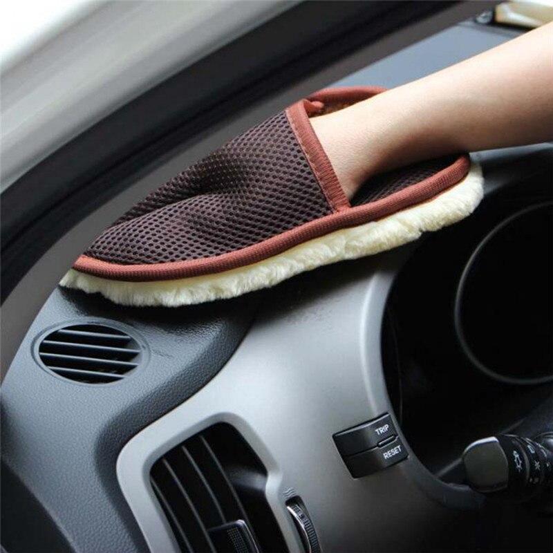 Car Wool cashmere Washing Gloves for Volkswagen VW Polo Golf 3 Beetle MK2 MK3 MK4 MK5 MK6 Bora CC Passat B6 B5 B7