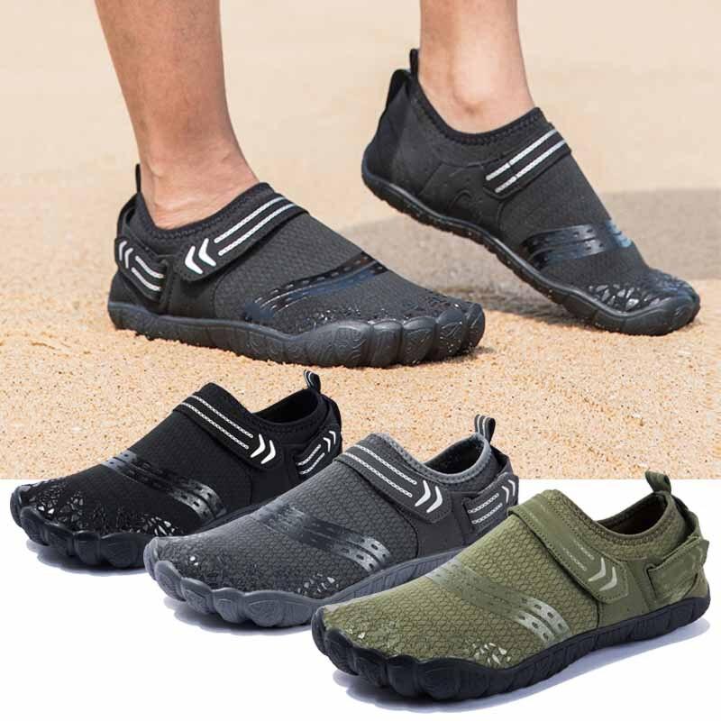 Grande tamanho sapatos masculinos descalços sapatos de natação dos homens upstream sapatos respirável caminhadas esporte sapatos secagem rápida rio água do mar tênis