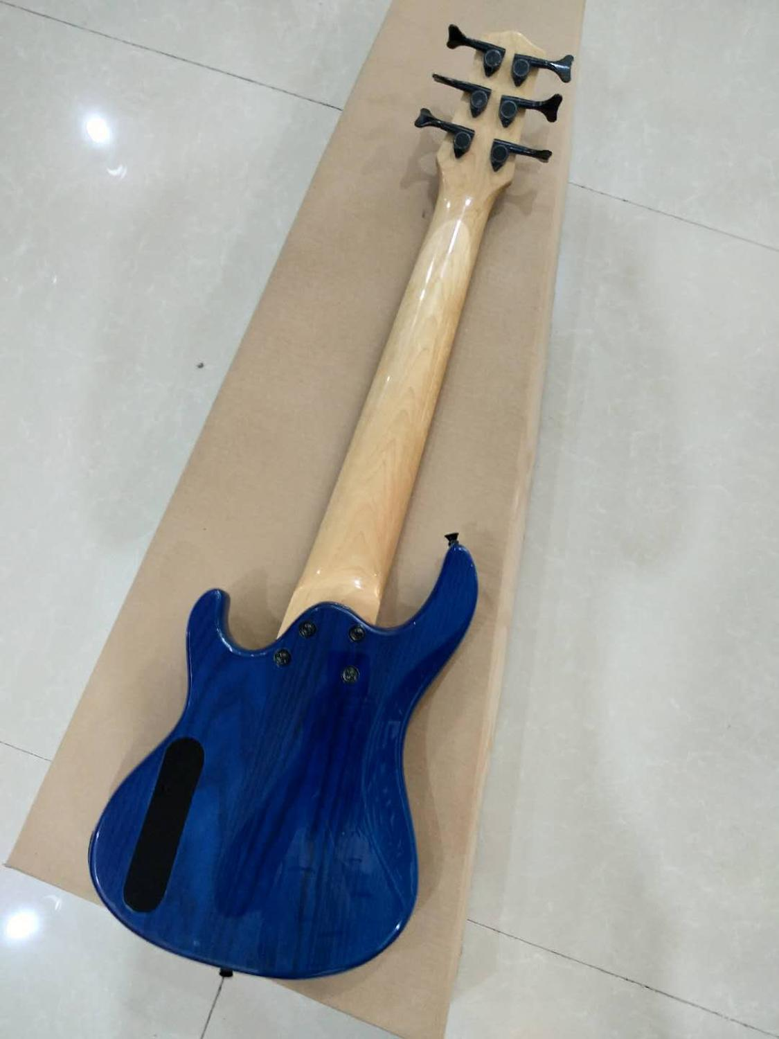 Customized 6-string mini bass electric guitar,648 string pitch, white wax xylophone body, 4-string, 5-string and 6-string, multi enlarge
