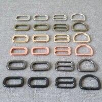 1set 25mm webbing metal hardware d ring belt buckle slider bag handbag strap link chain clasp dog martingale collar accessory