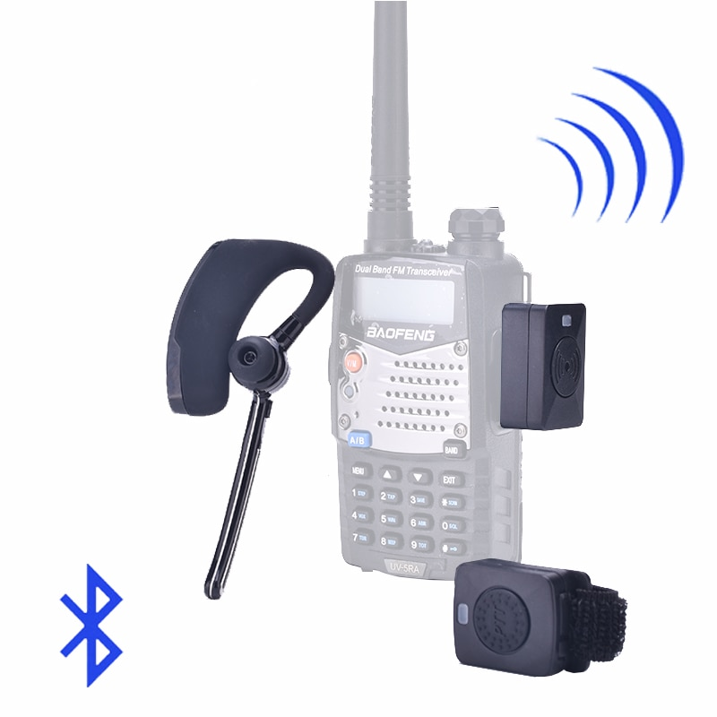 Walkie Talkie Wireless Headset  Walkie Talkie Bluetooth Headset Two Way Radio Headphone Earpiece For Baofeng 888S UV-82 UV5R