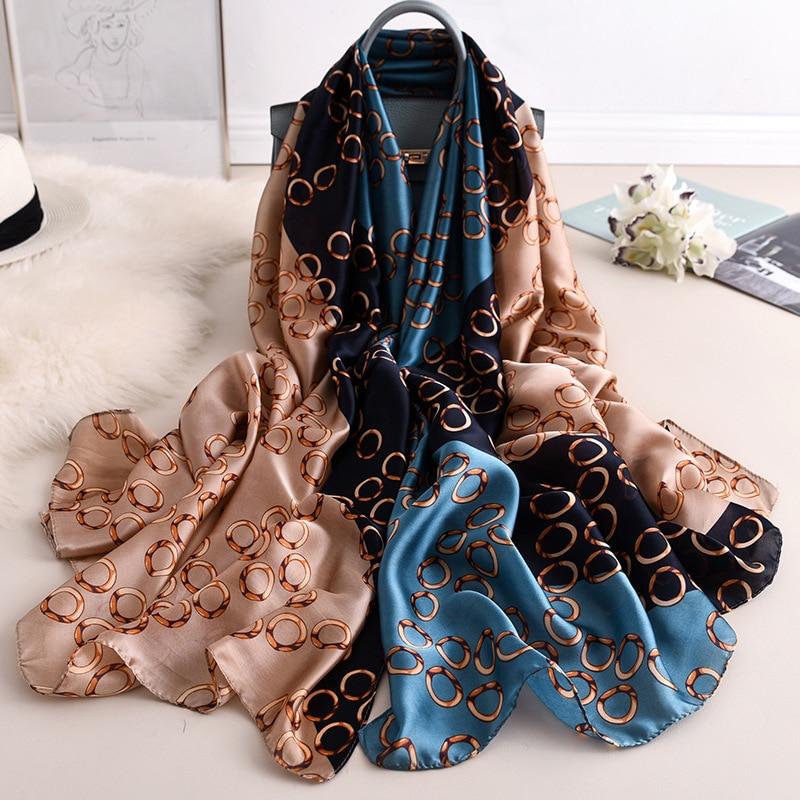 Luxury Brand New Design Silk Scarf Women Fashion Shawl Spring Summer Autumn Tourist muffler wrap beach bandanna female pareo