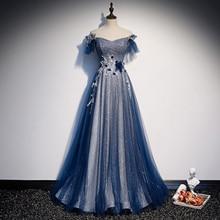 Romantic Starry Sequin Off Shoulder Backless Long Eveng Dress Elegant Strapless Appliques Bandage Fo
