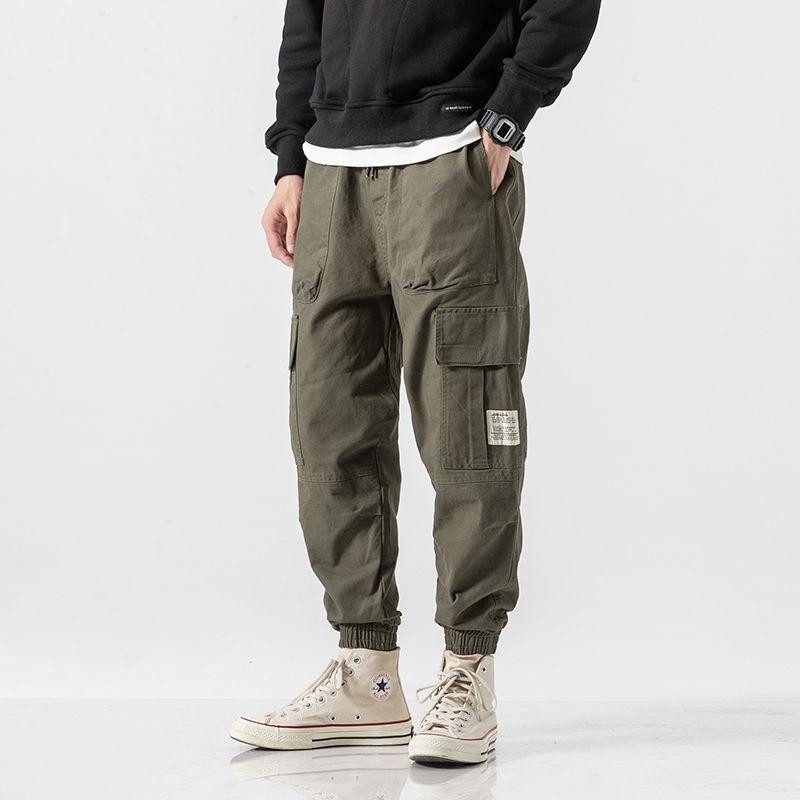 Cargo Pants Men Streetwear Hip hop Pants Mens Joggers Pants Casual Harem Ankle length Trousers Elast