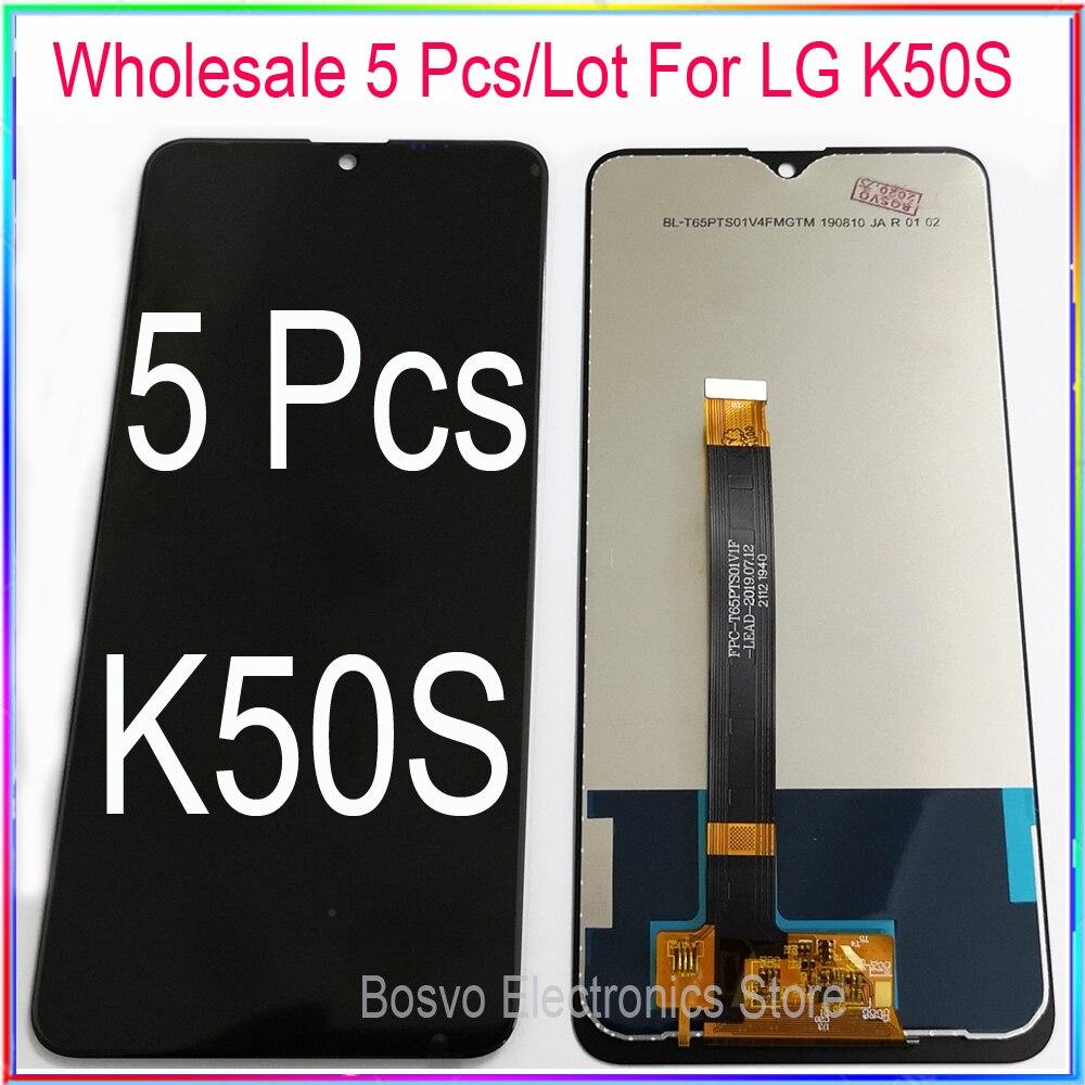 الجملة 5 قطعة/الوحدة ل LG K50S شاشة LCD عرض مع اللمس محول الأرقام الجمعية LM-X540 LMX-540HM