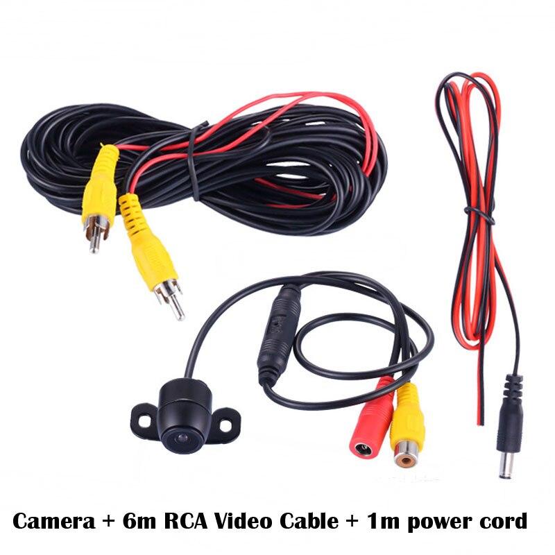Cámara frontal Universal impermeable Mini cámara de seguridad analógica 140 grados gran angular cámara de visión delantera para coche