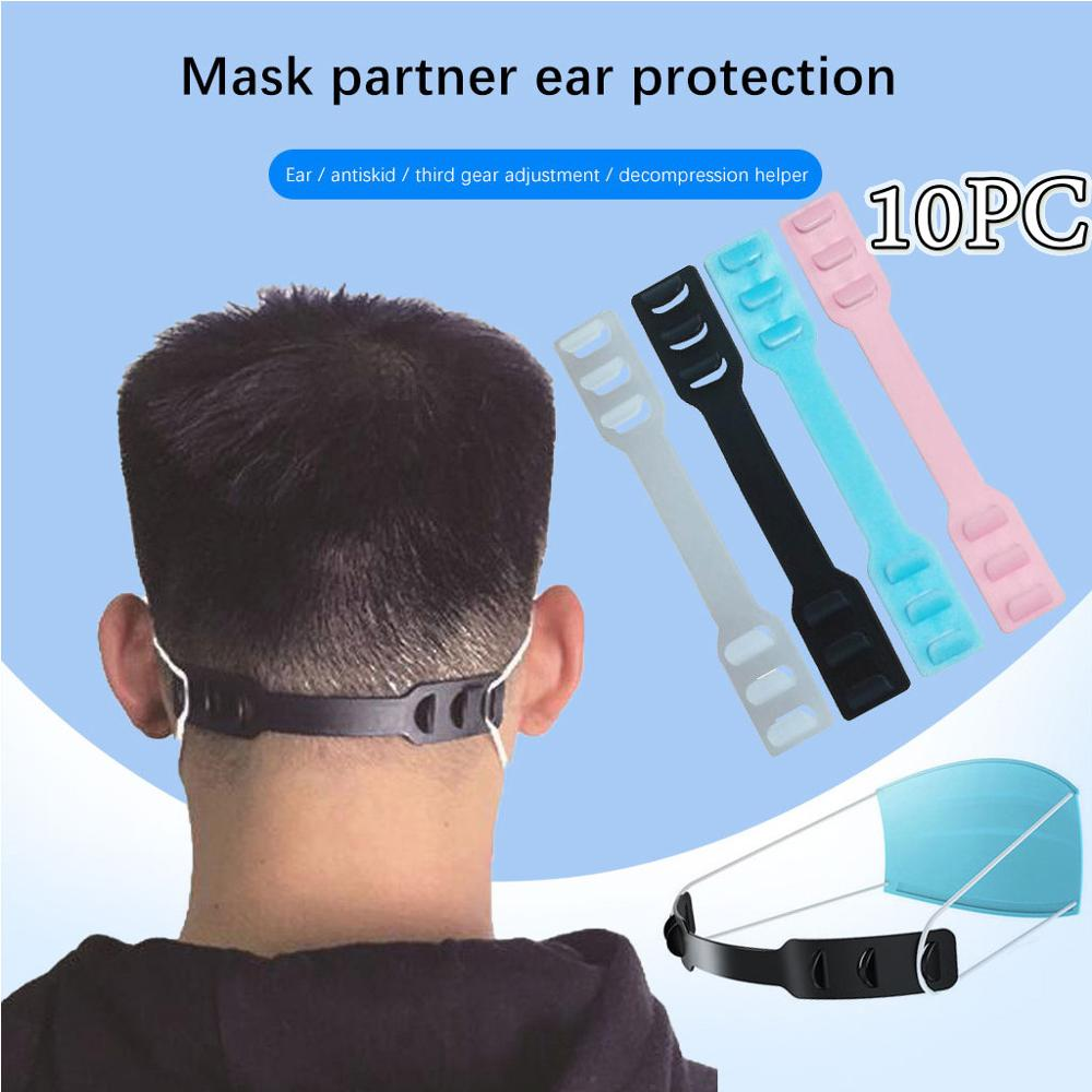 10pcs Third Gear Adjustable Mask Ear Extension Hook Point Wear Face Mask Comfortable Mask Buckle Ant