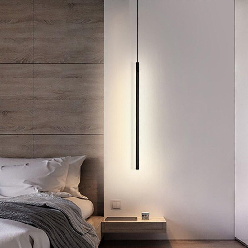 الشمال قلادة Led ضوء للمنزل الديكور الحديثة نوم أباجورة غرفة المعيشة يعتم مصباح معلق الإضاءة الداخلية ديكو