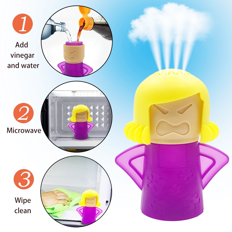 Angry Mama Microwave Cleaner Oven Steam Cleaner Easily Cleans Microwave Appliances for The Kitchen R