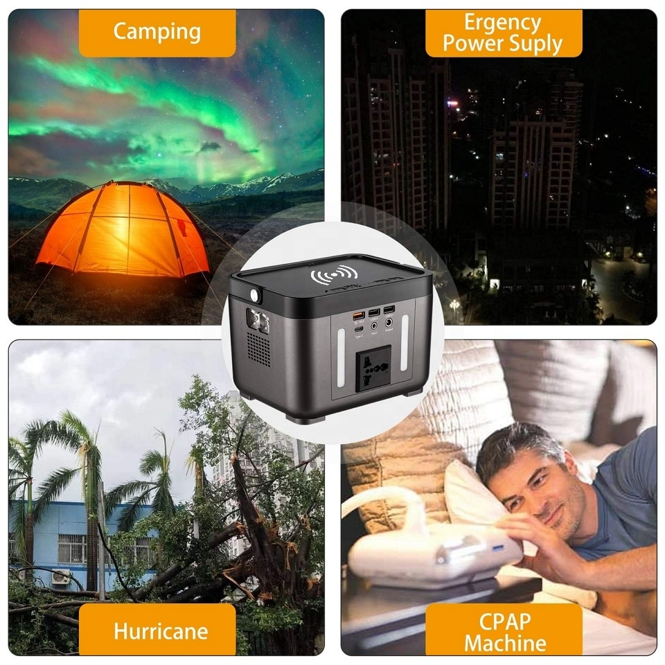 200w 60000mAh portable power bank station AC 110V 120V 220V 240V for home Outdoor camping laptop electric tools Emergency use enlarge