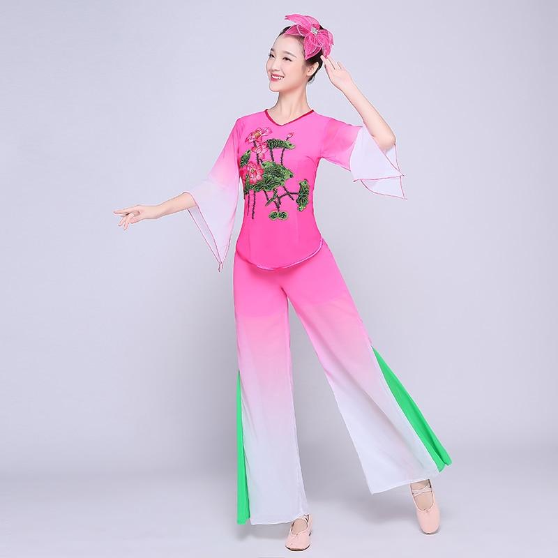¡Gran oferta! Trajes de danza clásica para mujer de marca, nueva ropa Yangko 2020, Ropa de baile para aficionados de mediana edad y de Tercera Edad