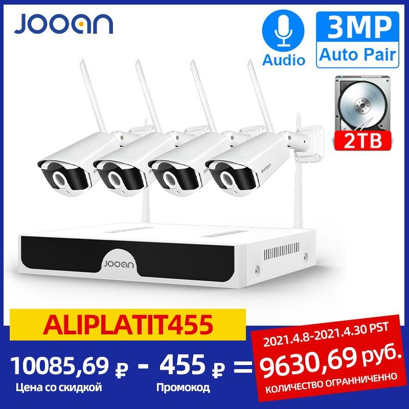 aliexpress.com - Jooan 8CH NVR HD 3MP CCTV Camera System Audio Record Outdoor P2P Wifi IP Security Camera Set Video Surveillance Kit