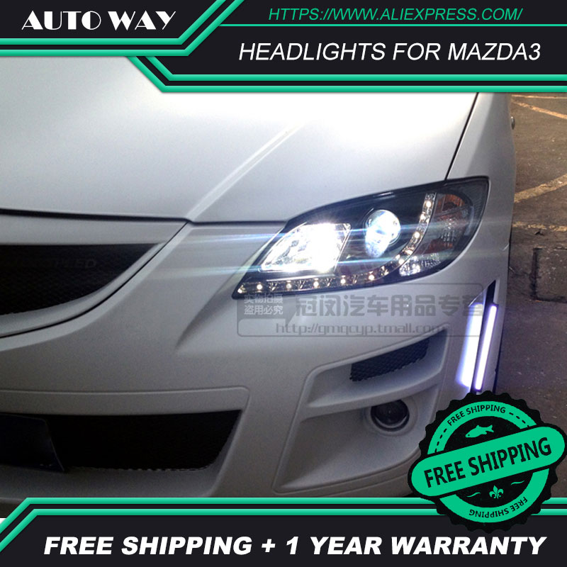 Estilo de coche LED HID faros cabeza cubierta de faro para Mazda3 faros Mazda 3 M3 faro 2006-2012 lente bi-xenon luz baja