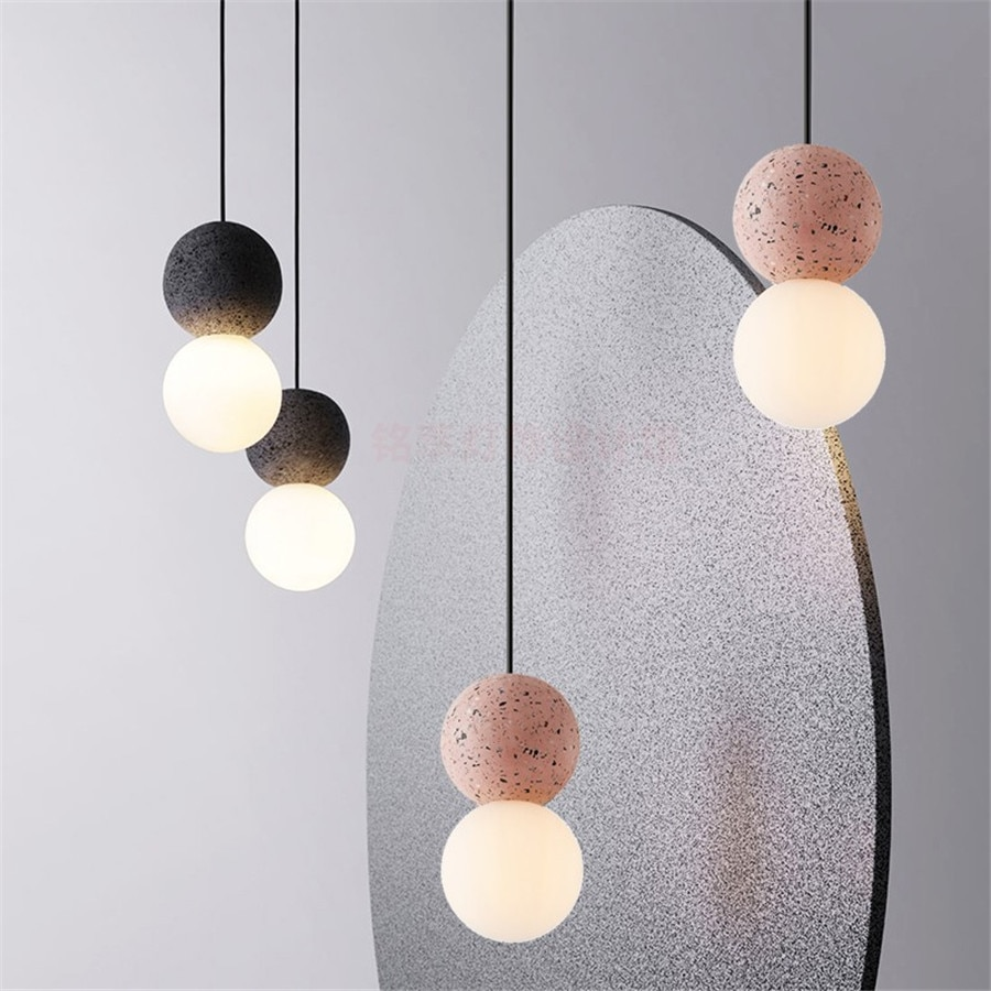Led الصناعية لوفت المطبخ غرفة نوم مطعم مصباح معلق ديكور المنزل إضاءة داخلية الحديثة ملموسة قلادة ضوء