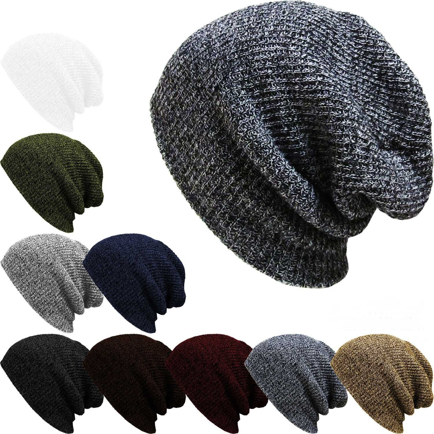 Knitted Wool Hat Autumn Winter Popular Crossover Men's Street Dance Pullover Knitted Wool Hat Outdoo