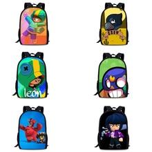 Bagarres sac Star Leon enfants sac à dos El Primo Poco NIta corbeau sac décole jeu personnage 3D sac à dos pour enfants 42X29X16cm