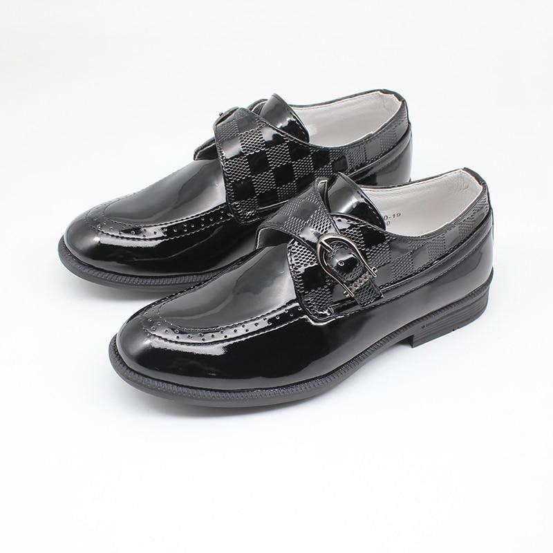 Zapatos de vestir sin cordones para niÑo, calzado de charol para niÑo,...